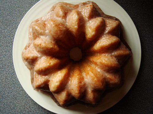 Olive Oil Lemon Thyme Bundt with Crunchy Lemon Glaze