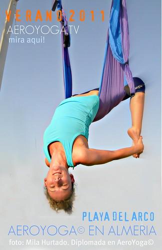 Aero Yoga© en Playa del Arco, Almería