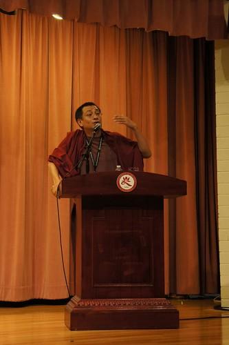 Dzogchen Ponlop Rinpoche presenting the closing keynote at Buddhist Geeks 2011
