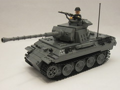 "Brickmania 2010 Panther Ausf. A. (""Rumrunner"") Tags: world 2 army war tank lego wwii ii german ww2 ww panther armour axis worldwar2 mg42 brickarms panzerjger brickmania"