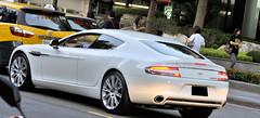 white sports car martin taiwan taipei aston rapide 2011