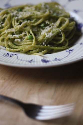 Pea Pesto with Linguine