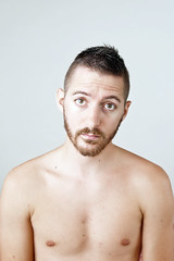 (Damien Cox) Tags: uk gay portrait selfportrait man male me self ego myself beard body masculine moi topless homo homosexual queer scruff stubble sigma30mmf14exdchsm i nikond40 damiencox snaptweet dcoxphotographycom