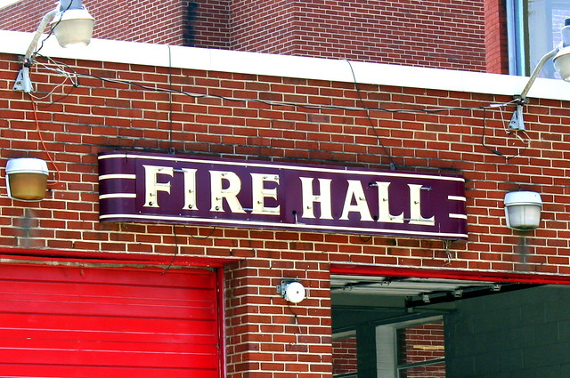 Fire Hall Neon Sign - Harriman, TN