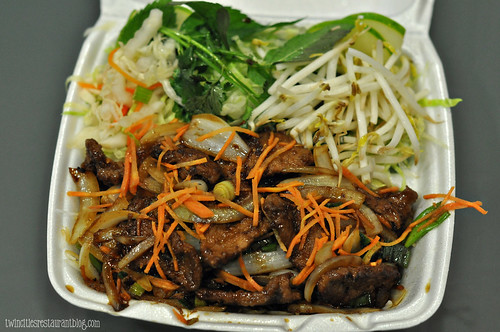 Vietnamese Beef Noodle Salad at Lotus Restaurant ~ Minneapolis, MN