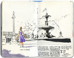 Lisbon #4 (freekhand) Tags: lisbon urbansketchers largodorossio
