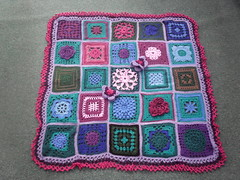 The bright colours in one, the 'soothing' colours in another one, that's two blankets already! .....'Blue Lagoon' - named by roomontheleft! Thank you!