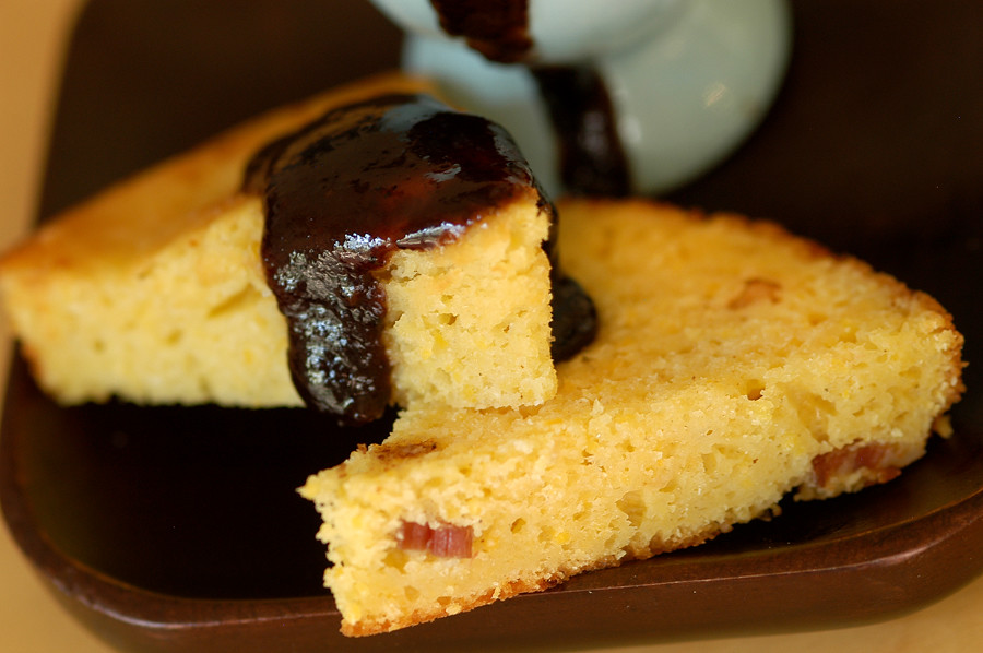 cornbread and blueberry butter