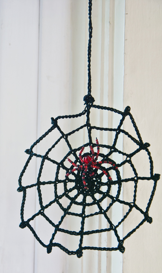 spider web and beaded spider_2