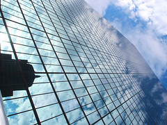 Sky (brooksbos) Tags: city morning blue summer sky urban tower glass skyline clouds skyscraper geotagged ma photography photo cityscape mr newengland olympus hancock bostonma copley copleysquare bostonist masschusetts lurvely 02116 everyblock thatsboston xz1 brooksbos