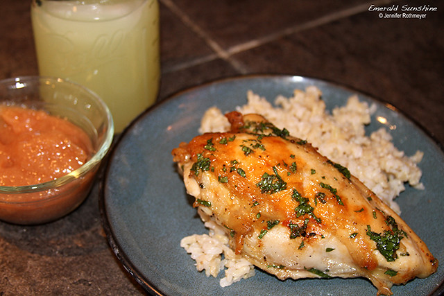 Recipe for Honey-Mint Glazed Baked Chicken
