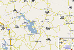 lake livingston map