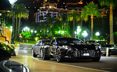 Aston Martin One-77 (Willem Rodenburg) Tags: 3 black slr car by night photoshop 50mm grey one mercedes benz nikon place shot nightshot martin 33 hill extreme picture picasa s casino montecarlo monaco special bleu most mclaren mercedesbenz british mm 50 limited edition 77 rare supercar v8 aston astonmartin willem combo roadster lightroom v12 rapide 722 d90 hoteldeparis cs5 hypercar rodenburg one77 722s expensieve ubercombo