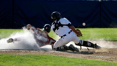 Connie Mack World Series (IwamotosPhotos) Tags: light newmexico baseball bat slide nm catcher dust farmington batter umpire homeplate conniemack cmws conniemackworldseries