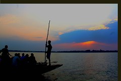 ready for voyage. (manwar2010) Tags: you when water uluberia tag sunset mywinners nature people picnik river platinumphoto mygearandme india googlechrome geotagged flickraward flickrestrellas gallery ganga geo geotag flickr chrome come canon boat award asia art