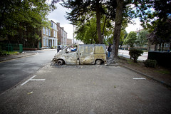 Burnt out van - Aftermath of Tottenham Riots by AndrewPagePhotography
