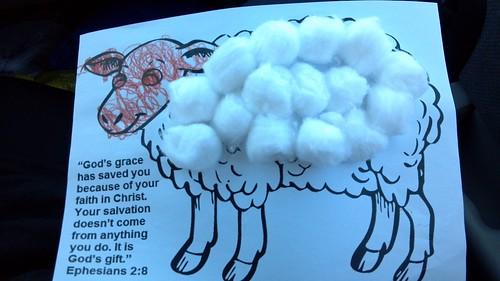 Judah's art from Sunday school