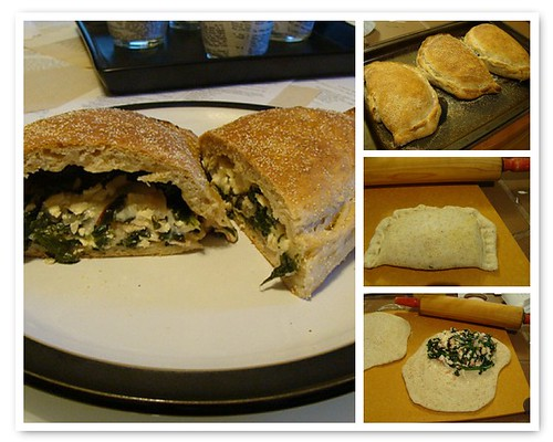 Calzones with CSA spinach & beet greens!