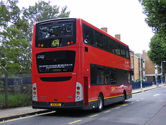 Go Ahead London . Docklands Buses . VM1 BJ11XGZ  ( Rear end ) . Manor Park Station . Saturday 06th-August-2011 . (AndrewHA's) Tags: bus volvo back rear prototype backend tfl manorpark mcv testbus vm1 b9tl goaheadgroup docklandsbuses route474 bj11xgz seedbus
