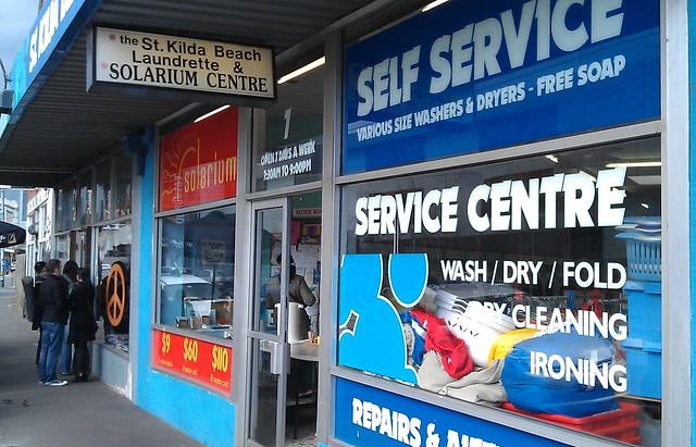 Laundromat in Carlisle Street, St Kilda