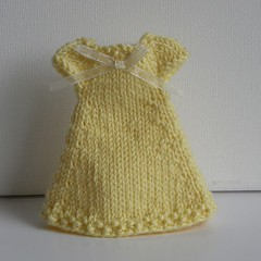 Yellow Knit Dress for Middie
