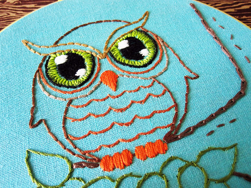 Woodland Owl Emboidery Pattern