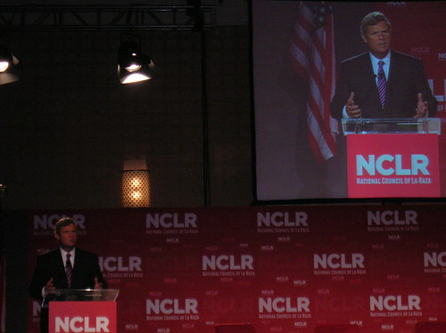 Secretary Vilsack speaks at a town hall session at the National Council of La Raza annual conference in Washington DC on July 24.
