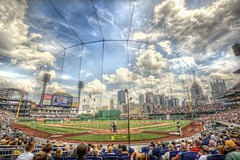 PNC Park from behind home plate HDR (Dave DiCello) Tags: beautiful skyline clouds photoshop nikon pittsburgh baseball tripod christmastree bluehour nikkor hdr highdynamicrange pncpark mlb pittsburghpirates cs4 pittsburghskyline steelcity photomatix beautifulcities yinzer cityofbridges tonemapped theburgh pittsburgher colorefex cs5 lexusclub beautifulskyline d700 thecityofbridges pittsburghphotography davedicello pittsburghcityofbridges steelscapes beautifulcitiesatnight hdrexposed picturesofpittsburgh cityofbridgesphotography