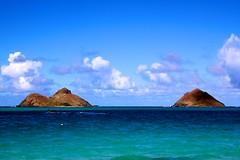 Nā Mokulua (rmaschak) Tags: summer vacation beach canon eos rebel hawaii flickr lanikai 2011 24105mmf4 namokulua mokuiki mokunui t1i