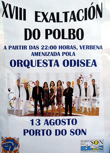 Porto do Son 2011 - XVIII Exaltación do Polbo - cartel orquestra