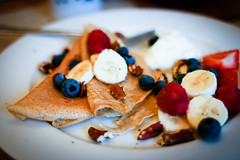 Sourdough Buckwheat Crepes with Fruit and Yogurt