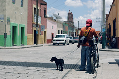 Past Tense Anticipation (Rob Chiu) Tags: dog bike mexico 50mm kid quiet walk explore doloreshidalgo 12l canon5dmkii