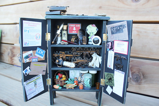 Zombie Survival Closet Curio Cabinet