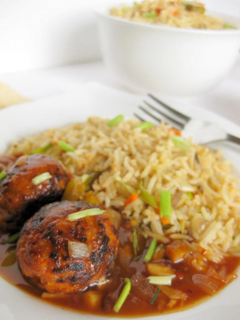 Vegetable fried rice vegetable manchurian kurryleaves method forumfinder Images