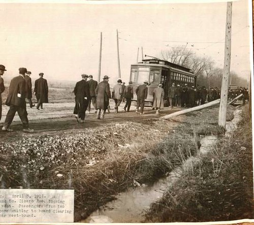 A Chicago Surface Lines Company electric  streetcar on the West 63rd Street line at South Cicero Avenue.  Chicago Illinois USA. Circa 1916. by Eddie from Chicago
