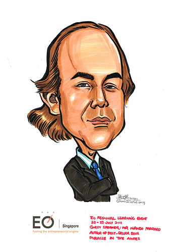 caricature for EO Singapore - Mr Nando Parrado