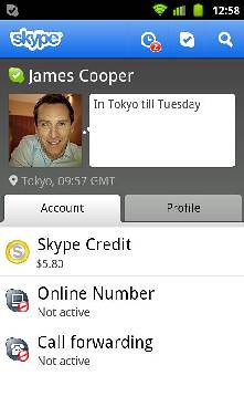 Skype 2.5 for Android