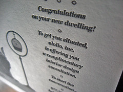 olollo letterpress certificates