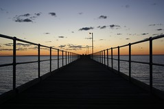 Ceduna jetty (robynbrody) Tags: ocean light sunset sea cloud beach water night clouds geotagged evening bay pier twilight fishing fisherman dusk jetty australia wharf southaustralia ceduna
