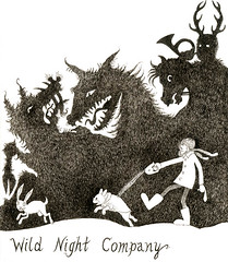 Wild Night Company (pageofbats) Tags: winter dog rabbit bunny moleskine illustrationfriday frenchbulldog hunter hunt walkies ferocious delusionsofgrandeur cancon hernethehunter agnosticphibes rammythebatlord agnosticphibesrhythmbloodconspiracy