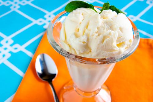 Basil Ice Cream (Jeni's Style)