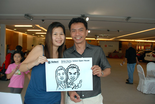 Caricature live sketching for Sime Darby Select Open House Day 1 - 3