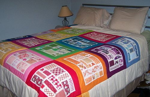 Bottled Rainbows Quilt, Queen size bed