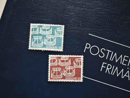 Viking Ships Stamp - Danmark,Denmark by migi328