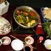 Jantando a famosa sopa Lau...
