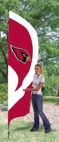 Arizona Cardinals Tall Feather Flag