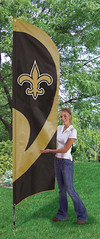 New Orleans Saints Tall Feather Flag