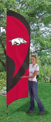 Arkansas Razorbacks Tall Feather Flag