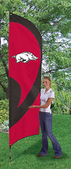 Arkansas Razorbacks Tall Feather Flag