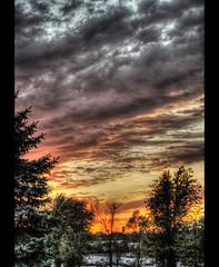 Cleveland Sunset (rsmith179) Tags: blue sunset sky orange colors cleveland clevelandohio lakeland hdr highdynamicrange mentorohio clevelandsunset lakelandcommunitycollege